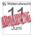 Neues Widerrufsrecht am dem 11. Juni 2010