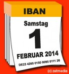 IBAN-Umstellung am 1.2.2014